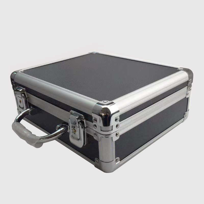 Portable aluminum alloy tool box file storage box anti shock equipment instrument box with lock with pre cut cotton 260x220x100m