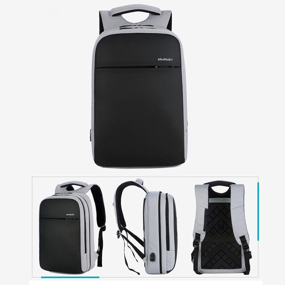 Unisexe sac à dos pour ordinateur portable femmes homme cahier hommes affaires sacs à dos voyage USB chargement dos Packs sacs étanche étudiant sac à dos