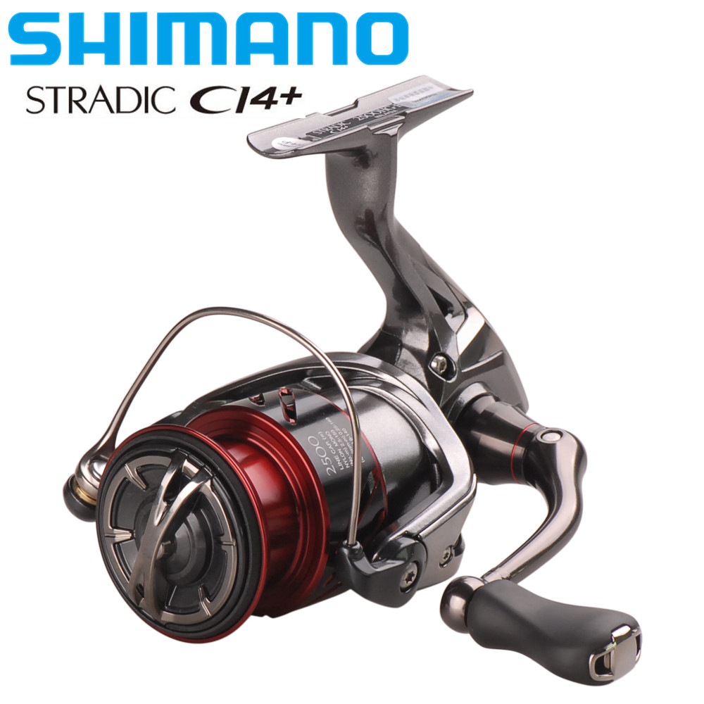 100% Shimano Reel STRADICCI4 + 1000 1000HG 2500HG C3000HG 6,0: 1/7BB Spinning Angeln Reel Hagane Getriebe X-Schiff Pesca Moulinet Peche