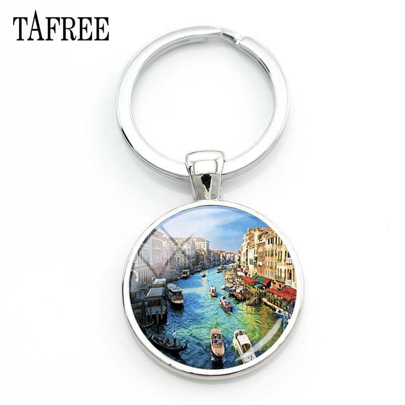 TAFREE famoso paisaje de Venecia llavero hermosos edificios llavero de imagen grandes atracciones tursticas gran joyería FA212