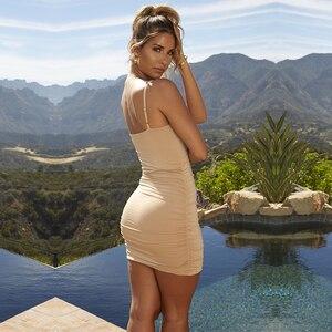 Image 3 - NewAsia 2 warstwy Ruched Sexy obcisła sukienka kobiety letnia sukienka elegancka Mini sukienka odzież klubowa sukienki damskie prezent na boże narodzenie