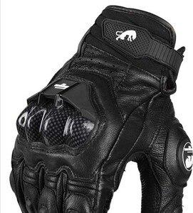 Image 4 - Real Genuine Leather Motorcycle Gloves GP PRO Riding Motobike Racing Cycling Luvas Moto Guantes Carbon Fiber Racing Cross bike