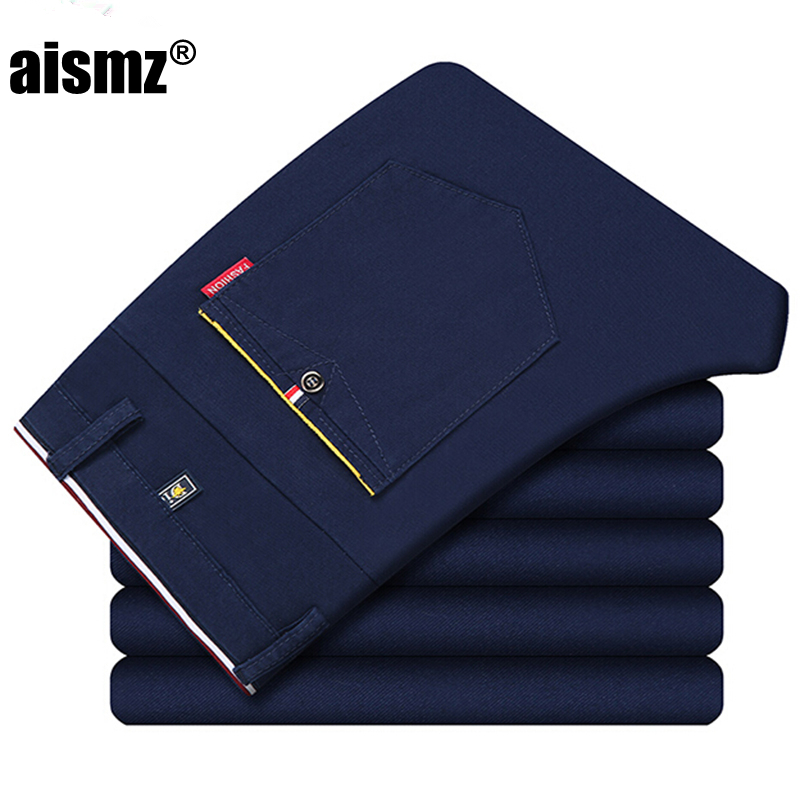 Aismz new fashion Mens Casual Pants high quality Brand Work Pants male Clothing Cotton Formal Trousers men size 36 38 ...