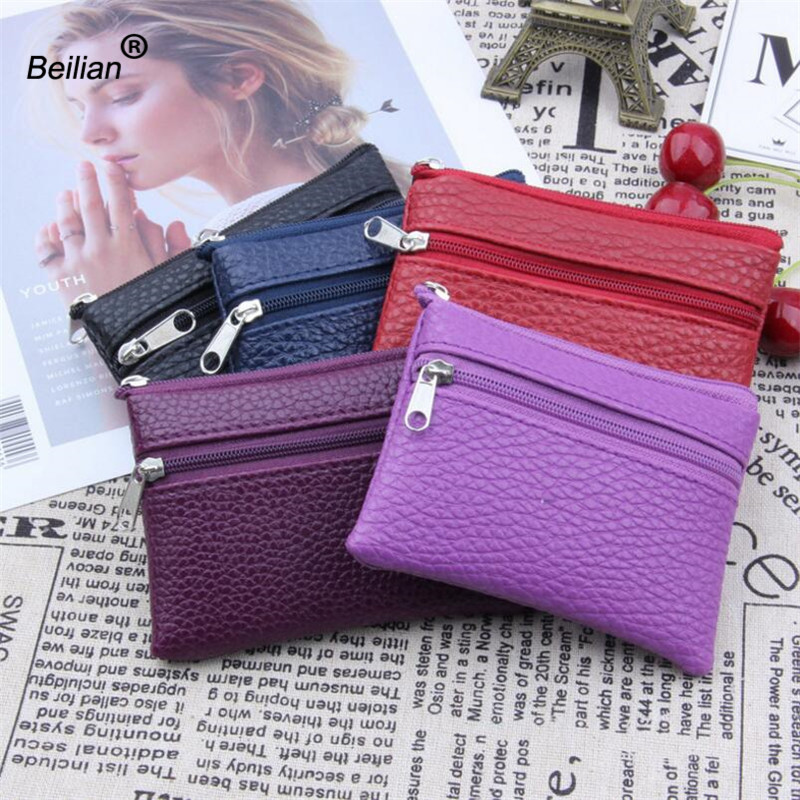 Coin Purses PU Leather Women's Small Change Money Bags Pocket Wallets Key Holder Case Mini Pouch Zipper Carteira Feminina