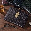 Новая кожаная записная книжка-календарь с кодовым замком и паролем  толстый персональный блокнот  Канцтовары для офиса  школы  подарок