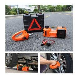الكهربائية الإطارات رفع سيارة جاك الهيدروليكية الهواء Infatable 5 طن رافعة أرضية السيارة مع تأثير وجع و قياس الإطارات مضخة هواء
