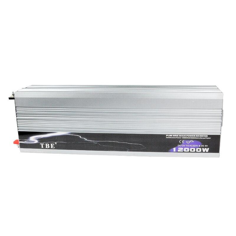 12000W Pure Sine Wave Power Inverter DC 12V To AC 220V Peak Power 24000W Solar Power Inverter 12000Watt Off Grid Inverter
