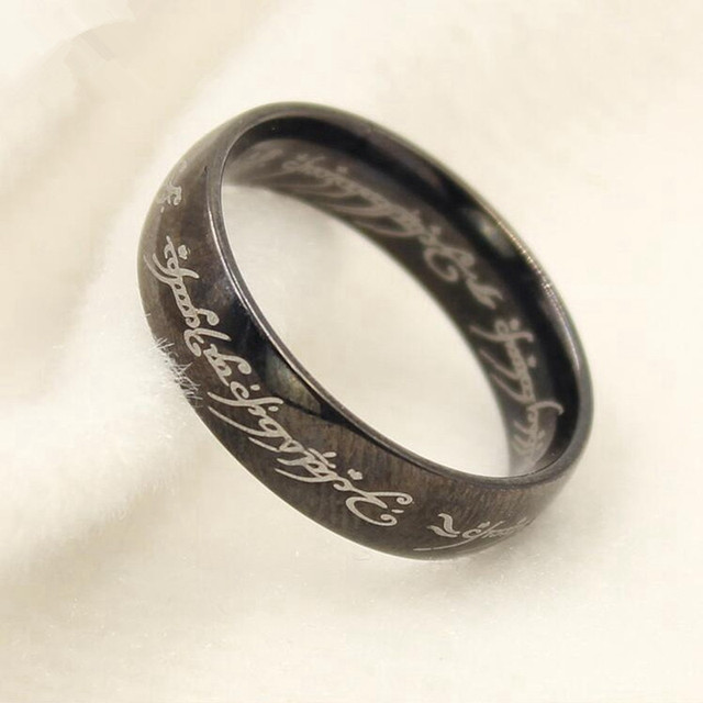 Midi Ring Tungsten One Ring of Power Gold the Lord of Ring Lovers Women and Men