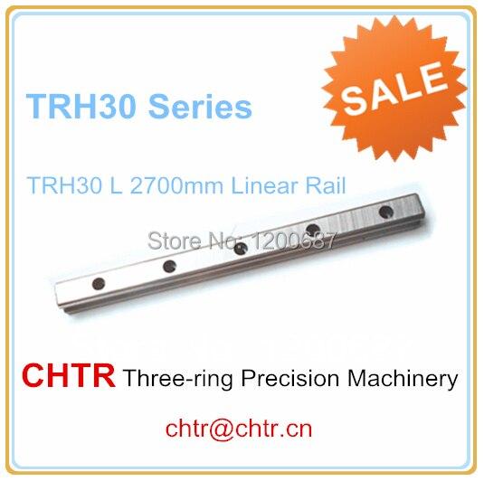 1pc TRH30 Length 2700mm Linear Slide Guideway Rail 28mm 1pc trh30 length 2500mm linear slide guideway rail 28mm