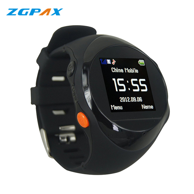 ZGPAX PG88 GPS Tracker Watch Mobile Phone for Kids Old Man with Best Touch SOS Function MP3 MP 3 Smart Watch for Kids or Old Man