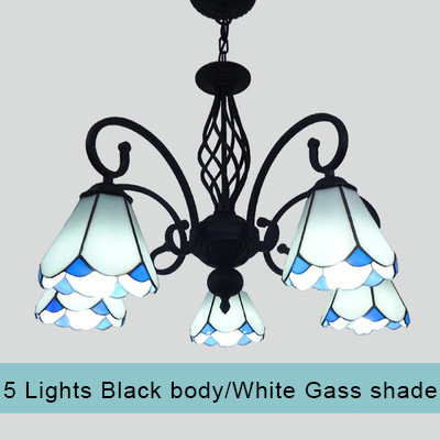 Us 263 99 Mediterranean Bohemian Tiffany Lighting Canada Chandelier Blue Genuine Decorative White And Black Hanging Light Fixtures In