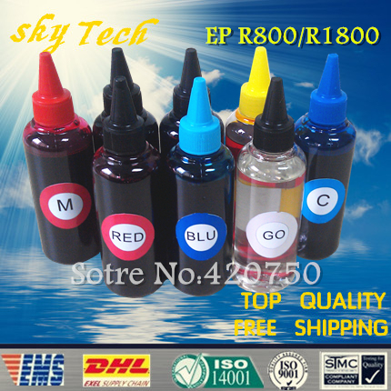 Dye refill ink suit for Epson T0540 T0541 - T0549 , 8 colors ink Quality ink suit for Epson Stylus Photo R1800 R800