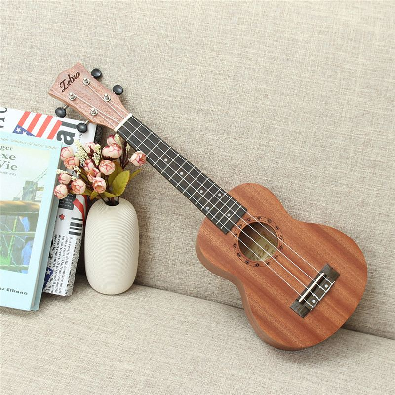21 inch 15 Frets Soprano Ukulele Guitar Uke Sapele Rosewood Hawaiian 4 Strings Guitarra Guitar Musical Instruments For Beginners 23 inch full sapele heart shaped lettering guitar musical stringed instruments 4 strings guitar 18 frets ukulele guitarra uc 118