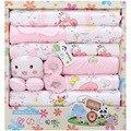 Caja de regalo del bebé recién nacido ropa de verano conjunto productos para bebés bebé recién nacido set 18 unids para 0-12 meses