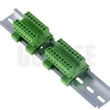 Vis blocs de bornes enfichables | 1 jeu 2 9pin, pas de vis 5.08mm, connecteur Din Rail montage alternatif Rail bornier