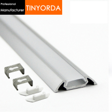 Tinyorda 1000Pcs (1M Length)Alu Led Strip Profile  Channel Profil for 13mm LED [Professional Manufacturer] TAP3006