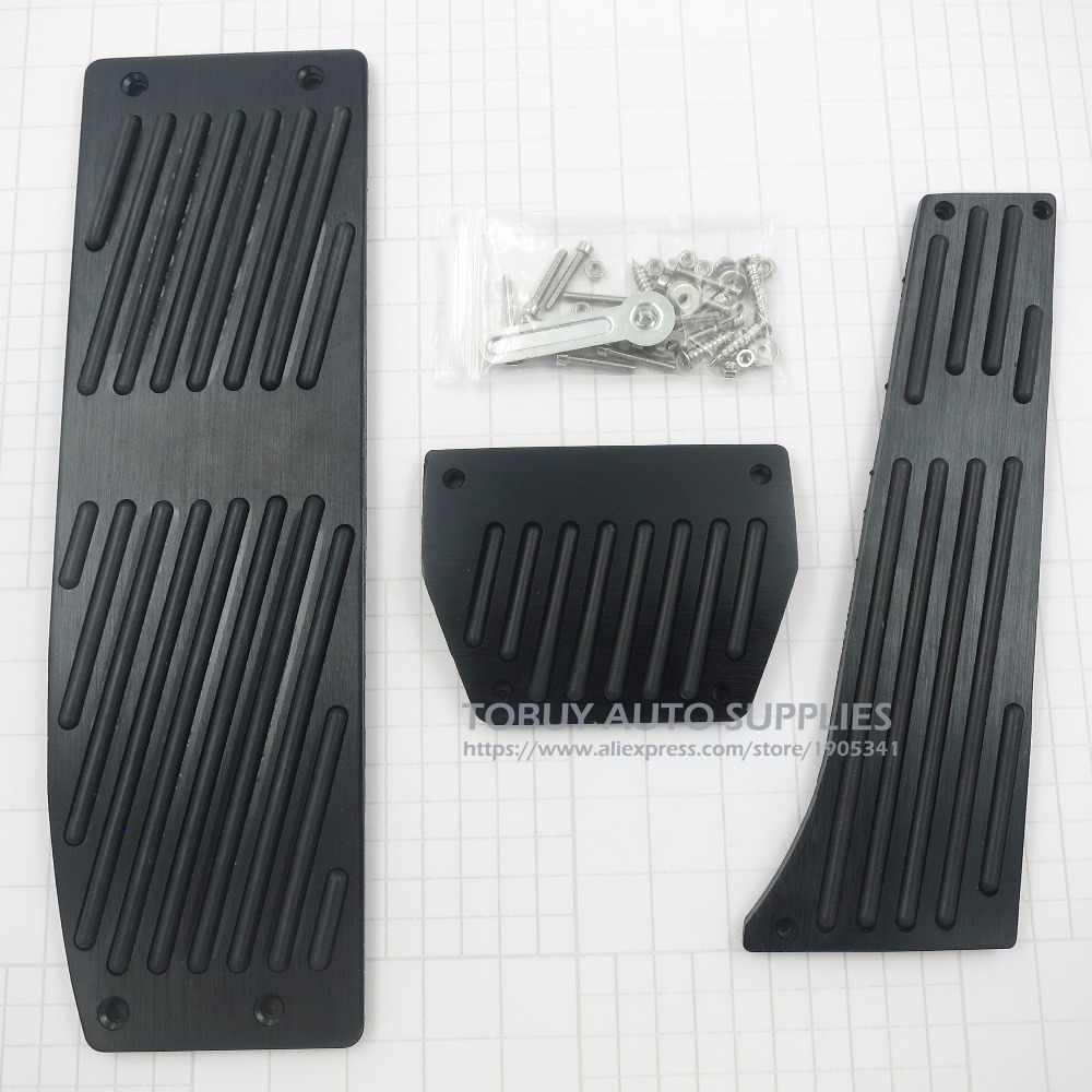 3Pcs AT Brake Foot Rest Pedals for //////M BMW 3 Series 1998-2011 E46 E90 E92 E93