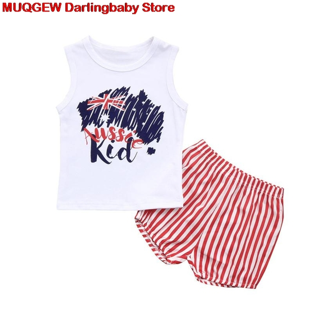 eb288c421 Newborn Clothes Baby Girl Clothes Letter Striped Star Summer Top ...