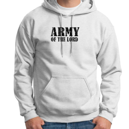 ARMY OF THE LORD Sweatshirt mens Prayer God Faith Jesus Christian Hoodie Sweatshirt US standard plus size S-3XL