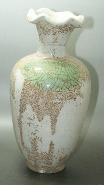 Fine Old China Crackle Glaze Ceramic Old Vase Porcelain & Pottery Collectible old porcelain
