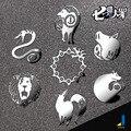 De Dibujos Animados Animación creativo de Metal Personalizado Pegatinas de Coches de Metal Suministros de Automoción Coche Decorativo Emblema JSD-3540