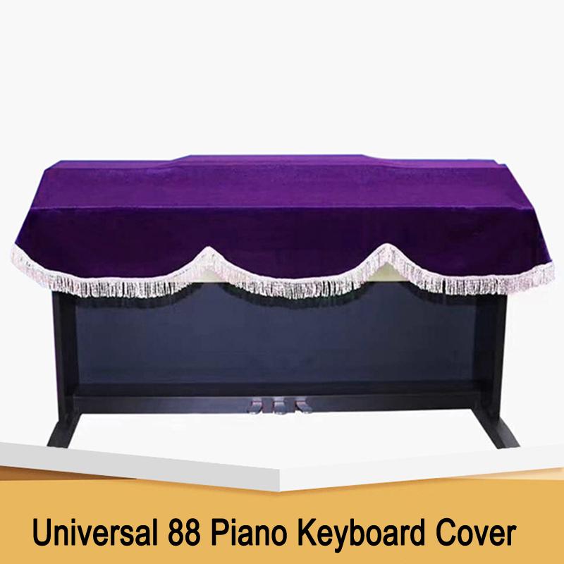 1PC New 88 Piano Keyboard Universal Piano Cover Pleuche Electric Piano Cover Dustproof Digital Piano Cover layer