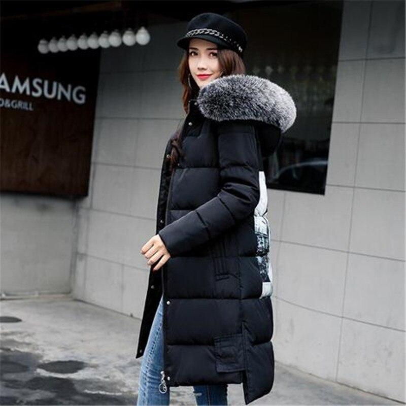 Épaisse E92 2018 Down Veste Mode Long Fourrure Capuche Tnlnzhyn D'hiver Gray Manteau Chaud Nouveau black Moyen Coton Col De Femmes Des wxZFAUqw