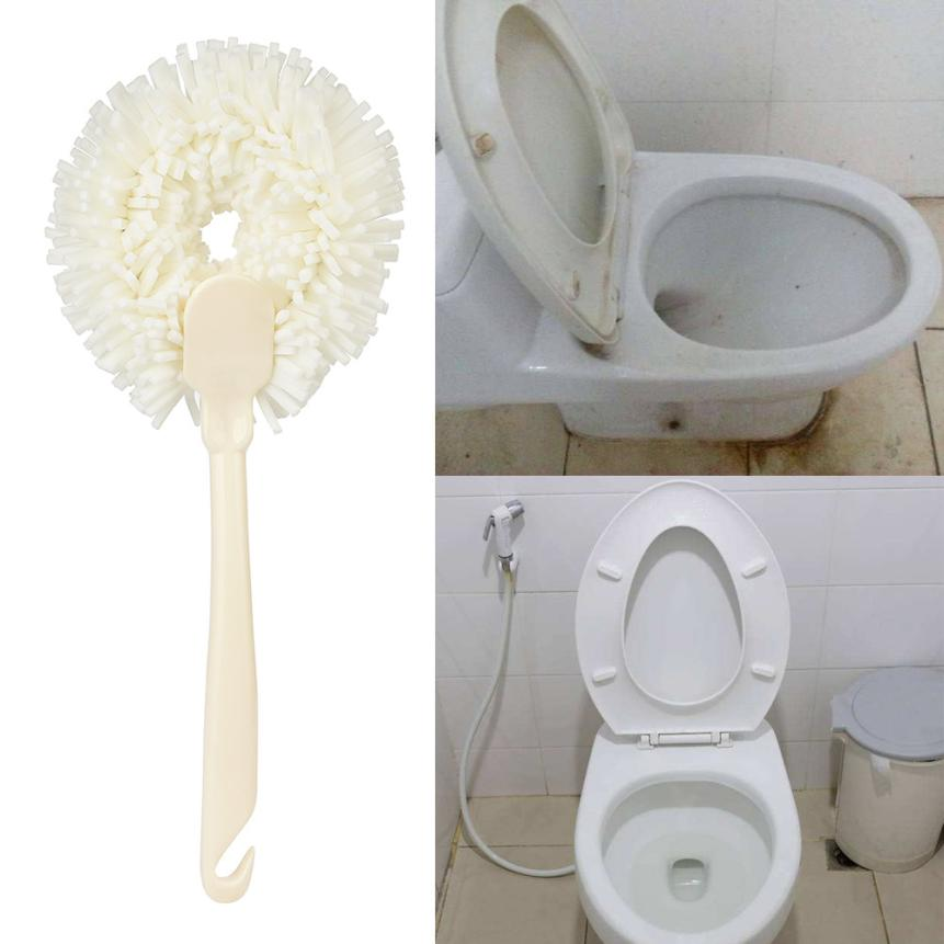 Handle Sponge Cleaner Brush Toilet Bathtub Wall Surface Kitchen Cleaning Tools Brush 2O0528