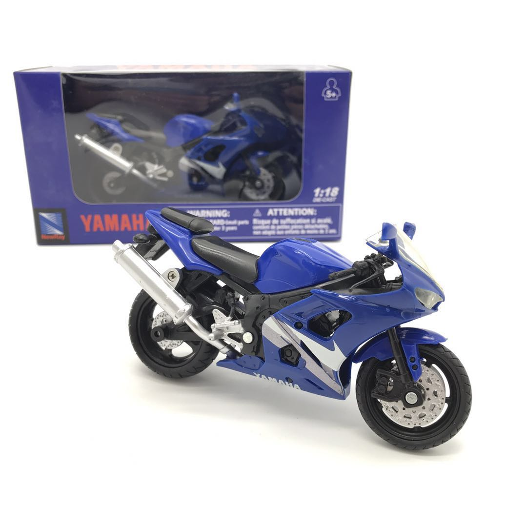 NEWRAY 1/18 Scale Motorbike Model Toys YAMAHA R1 Diecast Metal Motorcycle Model Toy For Collection/Gift/Kids