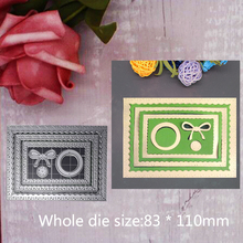 Inside Scalloped Rectangle Dies Metal Steel Cutting Embossing For Scrapbooking paper craft home decoration Craft 8.3*11cm