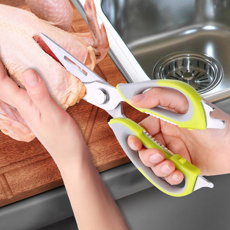 Multi-función de la cocina tijeras cortador de cuchillo de cocina de acero inoxidable vegetal cuchillos de carne de queso, carne de corte