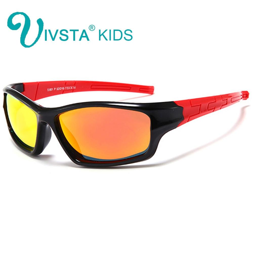 acf02195ed IVSTA Flexible TR90 gafas de sol niños gafas niños verano playa polarizado  Polaroid goma silicona seguridad H01