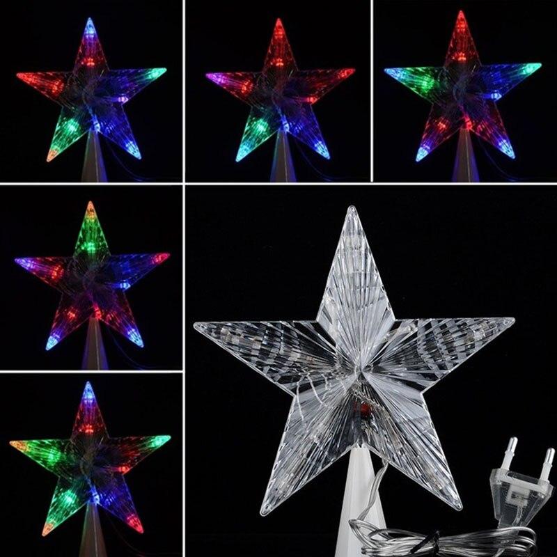 Милые Светящиеся игрушки большой Рождество елка Топпер Star Lights лампы multi Цвет украшения для детей подарок-17 bm88