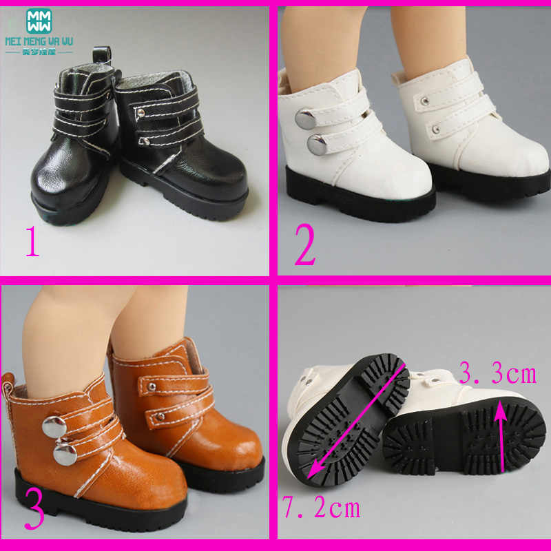 7.2cm mimi Short boots Shoes for Dolls fits 16 Inch 40cm Sharon doll  and 1/3 1/4 bjd doll