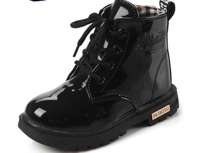 חדש אופנה Chaussure Enfant ילדי מגפי בנות בני חורף נעלי ילדי גשם נעלי עור ילדים סניקרס