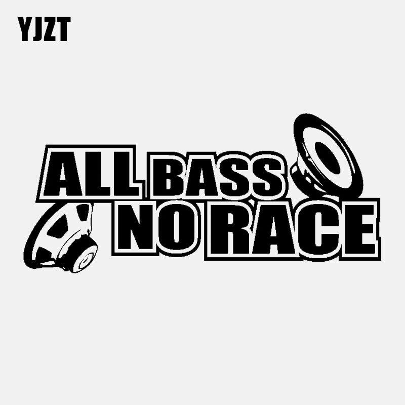YJZT виниловая наклейка на окна автомобиля, 16 см * 7 см, креативная наклейка на все басы, без гонки, цвета: черный, серебристый, с рисунком, на авт...