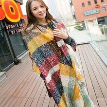 winter Cashmere Women Scarf worsted unisex acrylic basic wrap shawls scarves female knitted fall pashmina