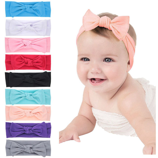 Naturalwell Girls Bandana turban headband Children headbands Kids cotton  bow headwraps Hair accessories bowknot headwraps HB029D 6a134ecb839