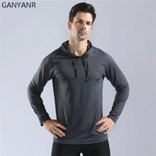 GANYANR Running T Shirt Men Basketball Tennis Soccer Tee Fitness Sportswear Gym Jogging Tops Exercise Rashgard Training Sports