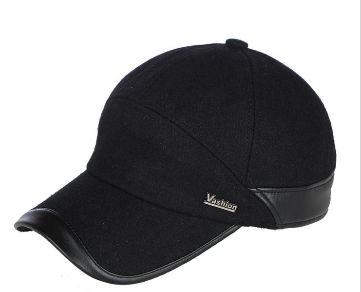 New Design Baseball Cap Sports  Snapback Simple Solid Hats For Men  autumn winter warm hats with ears