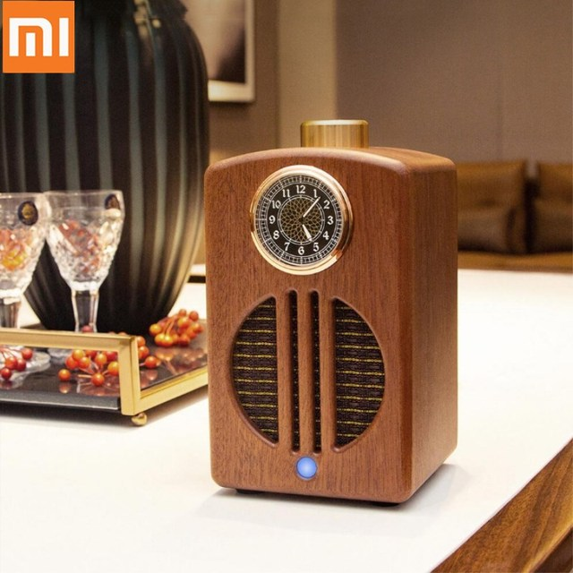 Xiaomi Youpin Wishall Simple Sound Speaker Audio Bluetooth Moment Log Home Wireless Connection Wooden Decoration for Home Office