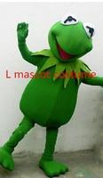 Hot Sale Hot sale Kermit Frog Mascot Costume free shipping Halloween Cartoon