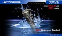 Free Shipping 100 Original JETBeam DDR26 Digital Display Flashlight Cree XM L2 LED Max 1000Lumens Rechargeable