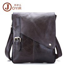 цена JOYIR 100% Genuine Leather Men's Shoulder Bag Casual Messenger Crossbody Pack Travel Small Money Belt Bag Men Small Bags B205 онлайн в 2017 году