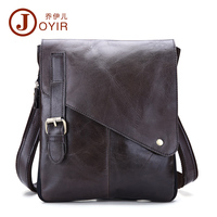JOYIR 100% Genuine Leather Men's Shoulder Bag Casual Messenger Crossbody Pack Travel Small Money Belt Bag Men Small Bags B205