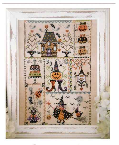 Halloween girl cross stitch kit simple cartoon design cotton silk thread 14ct 11ct linen flaxen canvas embroidery DIY needlework