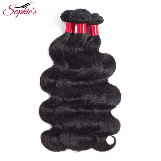 Sophies Body Wave Human Hair Bundles Hair Weaves Peruvian Sew In