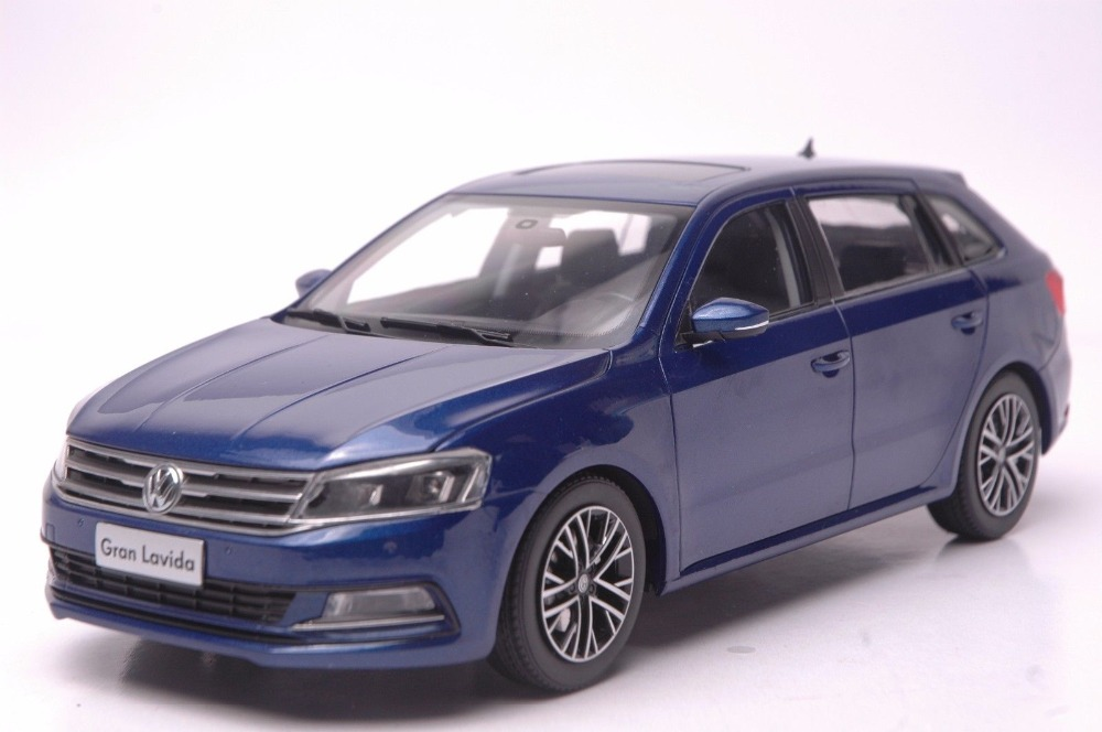 1:18 Diecast Model for Volkswagen VW Gran Lavida 2015 Blue Wagon  Alloy Toy Car Collection Gifts щипцы braun st 310 st 310