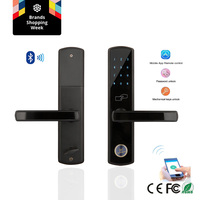 Wifi Bluetooth Smartphone lock App Digital Keyless Code Number Password Electronic Door Lock with 5572 Mortise for Airbnb