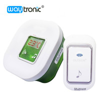 Wireless Polyphonic Melody Doorbell 51 Melodies 1 Plug In Receiver With Temperature Display 1 Push Button